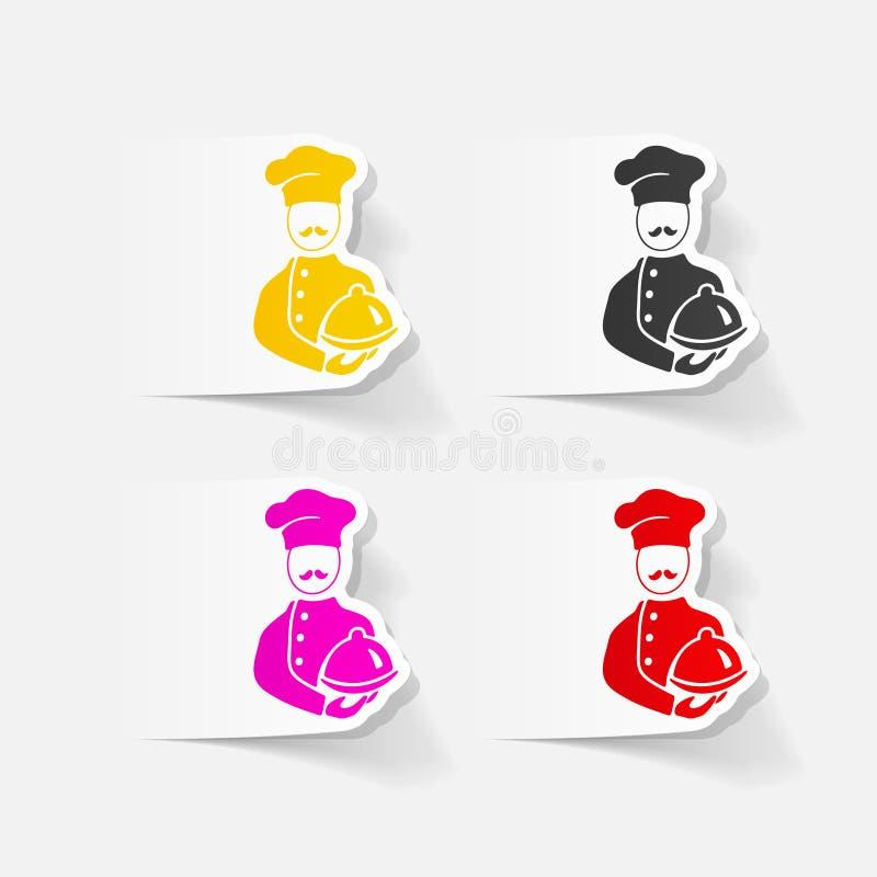 Realistyczny projekta element kucharz ilustracji