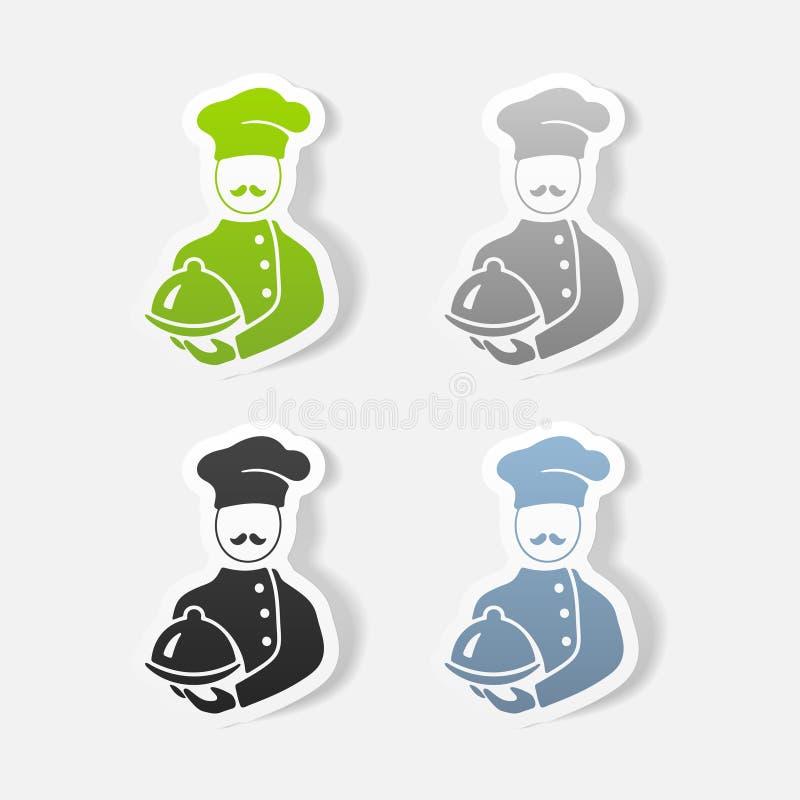Realistyczny projekta element kucharz royalty ilustracja