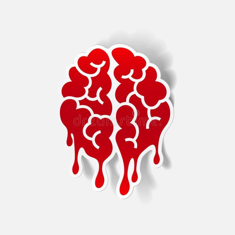Realistyczny projekta element: mózg kropla ilustracja wektor