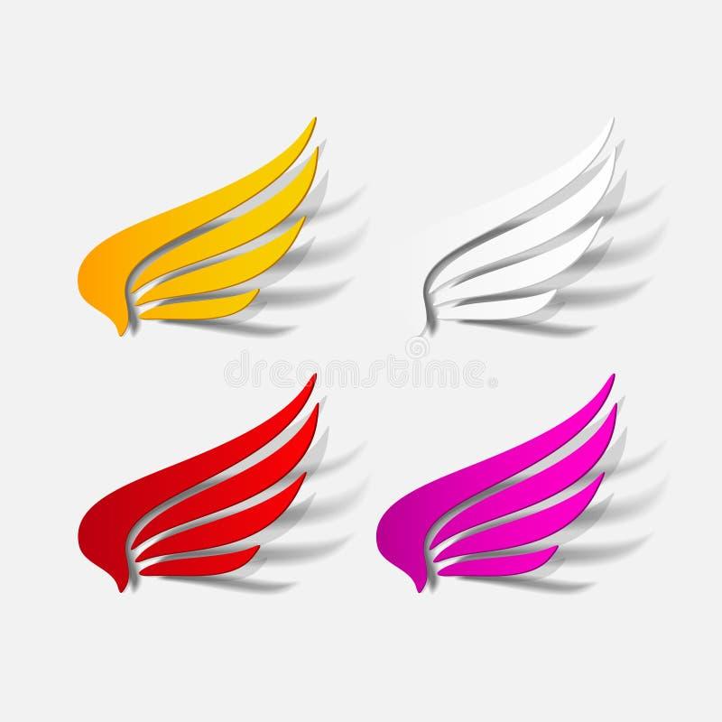 Realistyczny projekta element: skrzydło royalty ilustracja