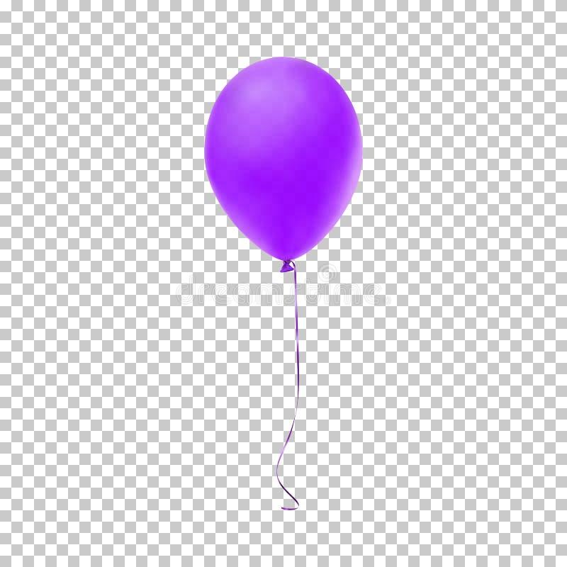 Realistyczny purpura balon również zwrócić corel ilustracji wektora ilustracji