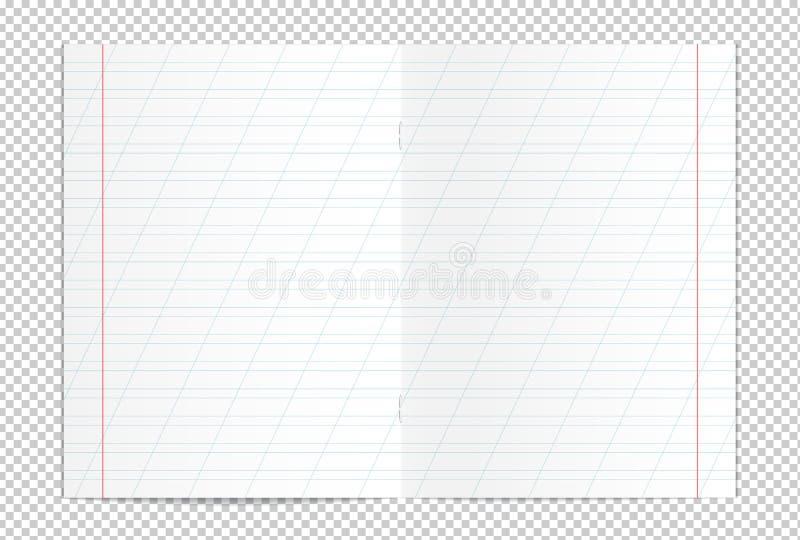 Realistyczny puste miejsce wykładający kopii książki rozszerzanie się ilustracja wektor