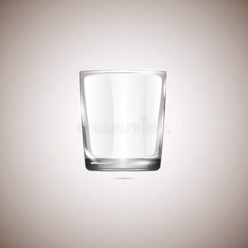 Realistyczny pusty glassful, odizolowywający na beżowym tle ilustracja wektor