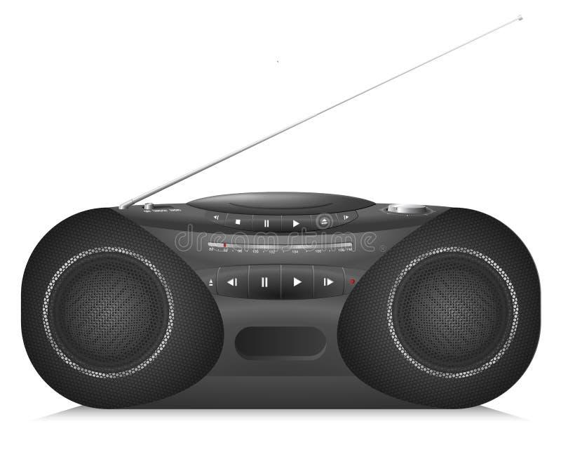Realistyczny Radiowy kaseta pisak z odtwarzaczem cd ilustracji