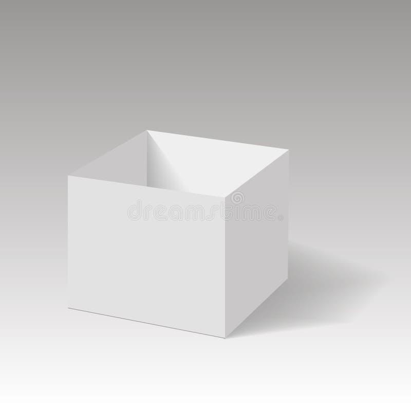 Realistyczny rozpieczętowany pudełko egzamin próbny up wektor royalty ilustracja