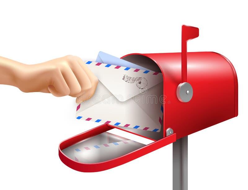 Realistyczny skrzynka pocztowa skład royalty ilustracja