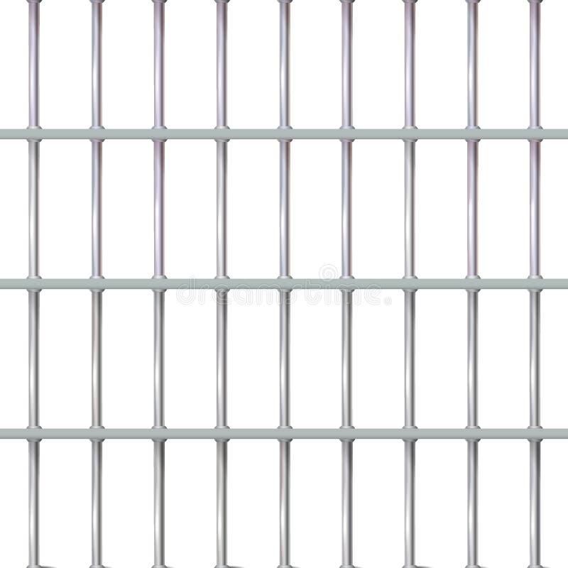 Realistyczny tła więzienia żelaza wnętrze Więzienie komórki nowożytne z barami Sztandaru wektoru metalu szczeg??owa ilustracyjna  ilustracja wektor
