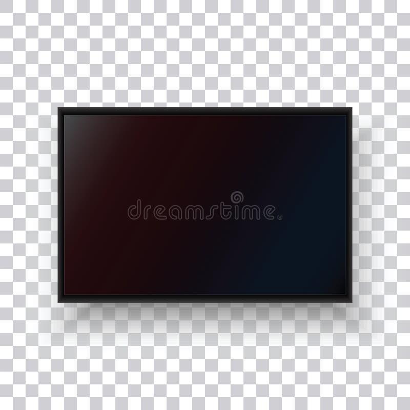 Realistyczny TV monitor na przejrzystym tle fotografia royalty free