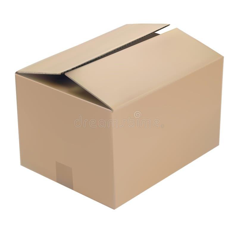 Realistyczny wektor otwierający pudełko royalty ilustracja