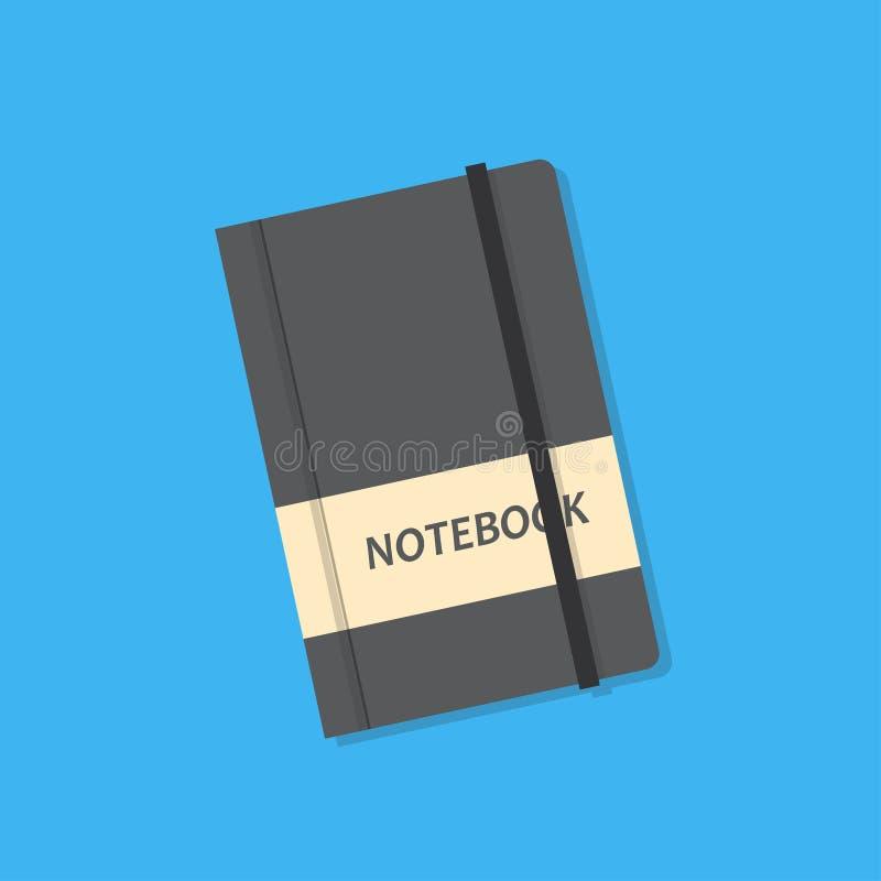 Realistyczny wektorowy notatnik ilustracji