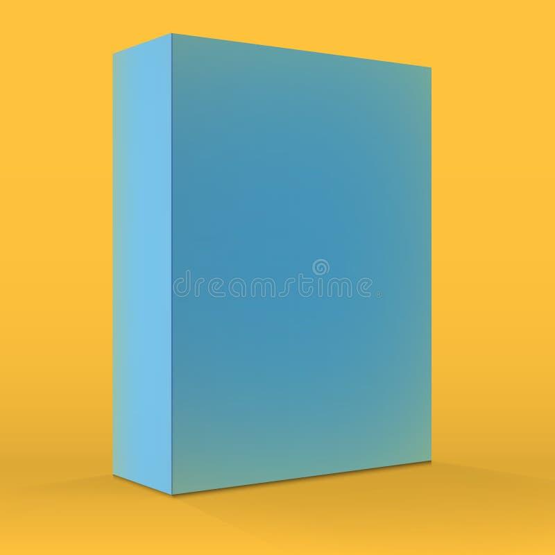 Realistyczny Wektorowy Pusty Błękitny Pakuje Pudełkowaty szablon dla telefonu komórkowego royalty ilustracja