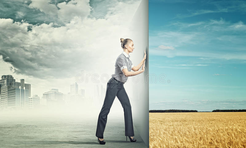 Reality change royalty free stock images