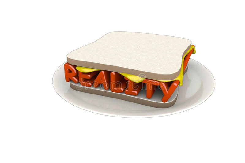 Reality Sandwich Stock Photography