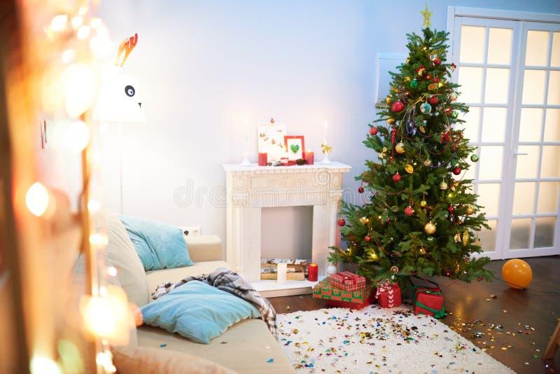Realización de la fiesta de Navidad foto de archivo libre de regalías