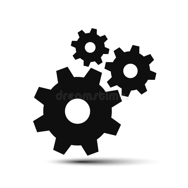 Realization concept, clockwork, teamwork - for stock royalty free illustration