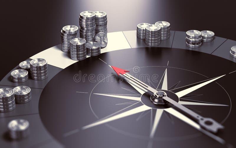 Realizzare profitto, buon investimento royalty illustrazione gratis