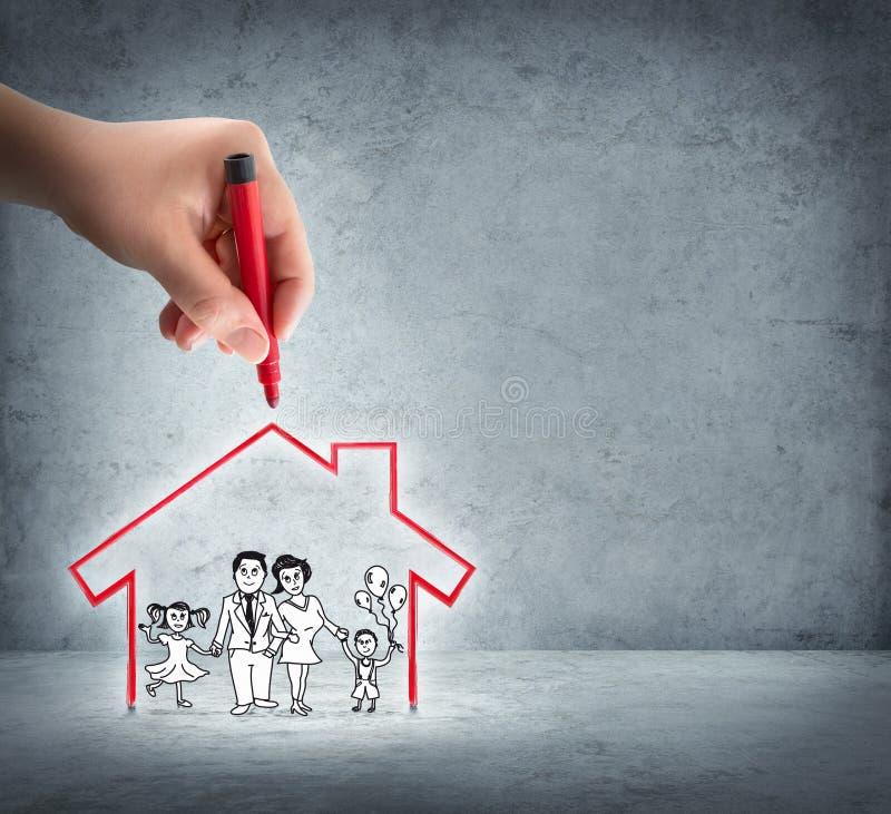 Realizzazione della vostra casa immagini stock