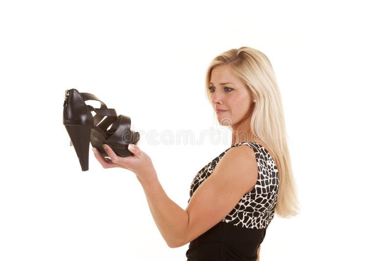 Realmente querendo a sapata imagem de stock