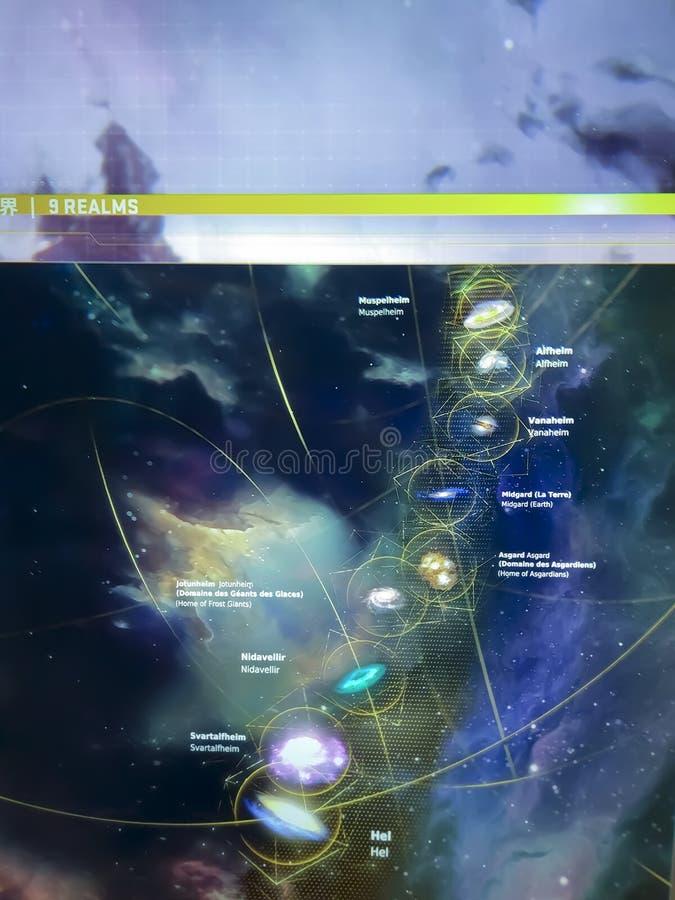 9 REALMS,Melkwegstelsel stock fotografie