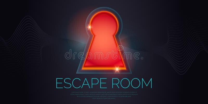 Realna pokój ucieczka i poszukiwanie gry plakat ilustracji