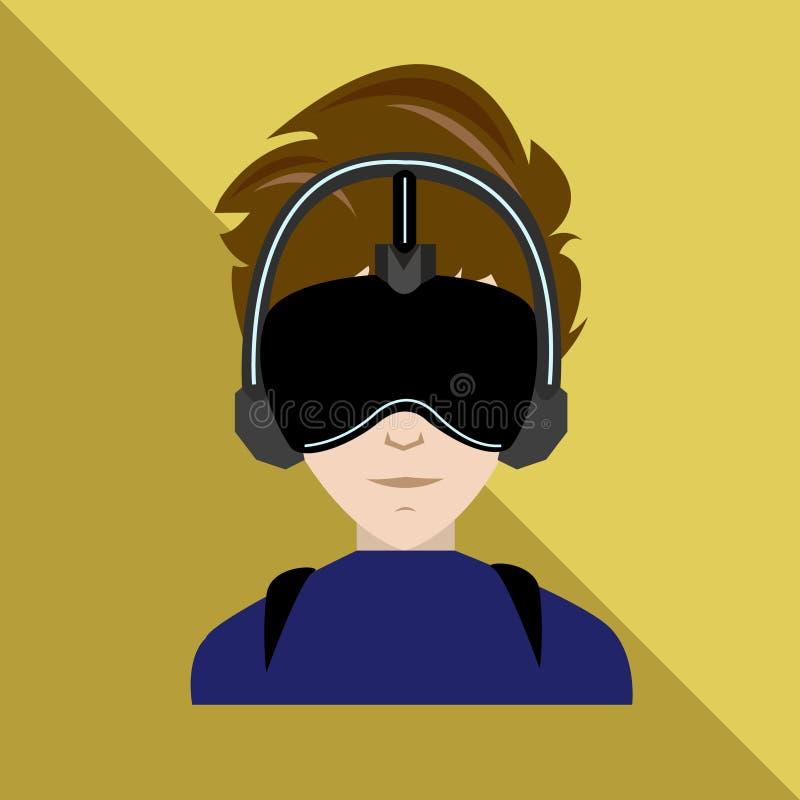 Realtà virtuale illustrazione di stock