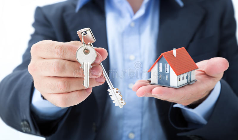 Download Realtor Deliver With House Keys Stock Image - Image of deliver, house: 41219411