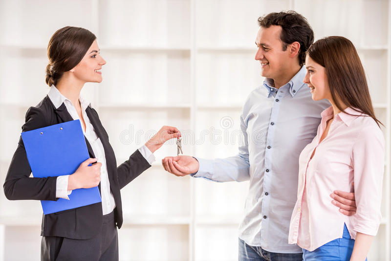 Download Realtor stock photo. Image of handshake, agent, couple - 53533550
