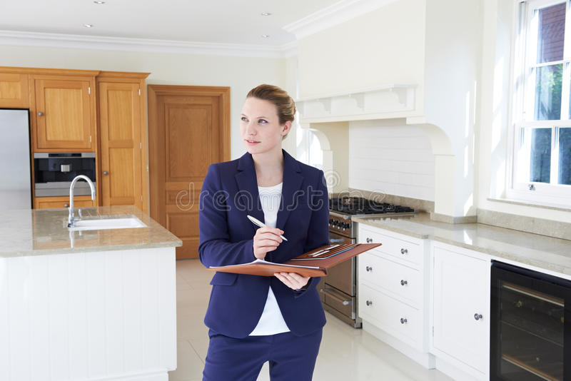 Download Realtor Looking Around Vacant New Property Stock Photo - Image of realtor, female: 68117256