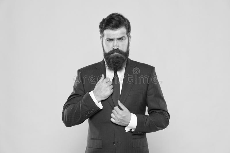 Realtor marketing. male fashion. successful and charismatic lawyer. leadership concept. life management. superior stock photo