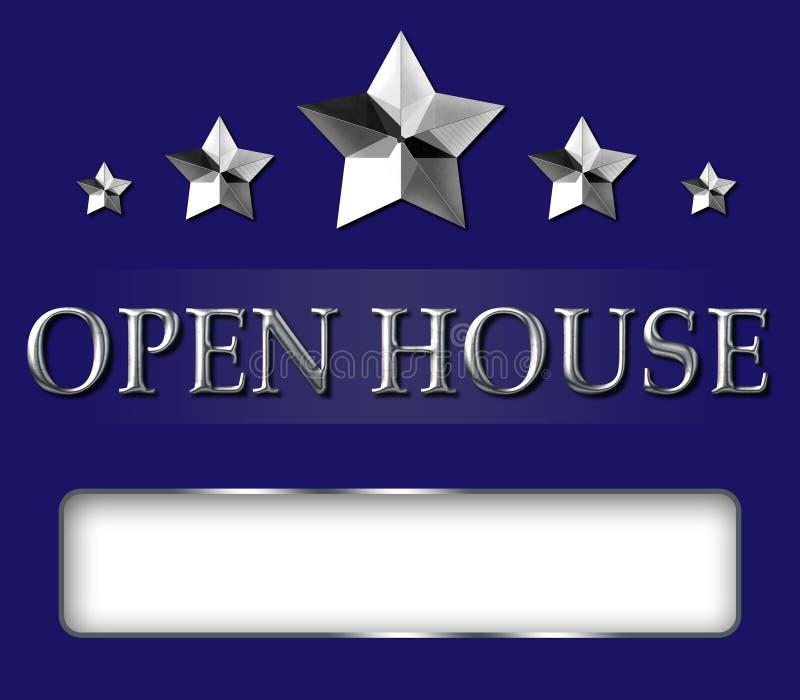 Realtor Open House Star Sign royalty free stock photos