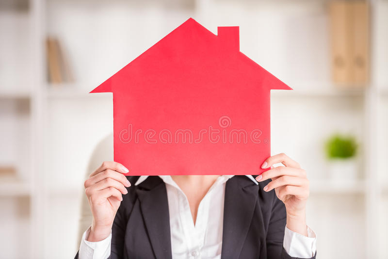 Download Realtor stock image. Image of keys, house, female, happy - 53533287