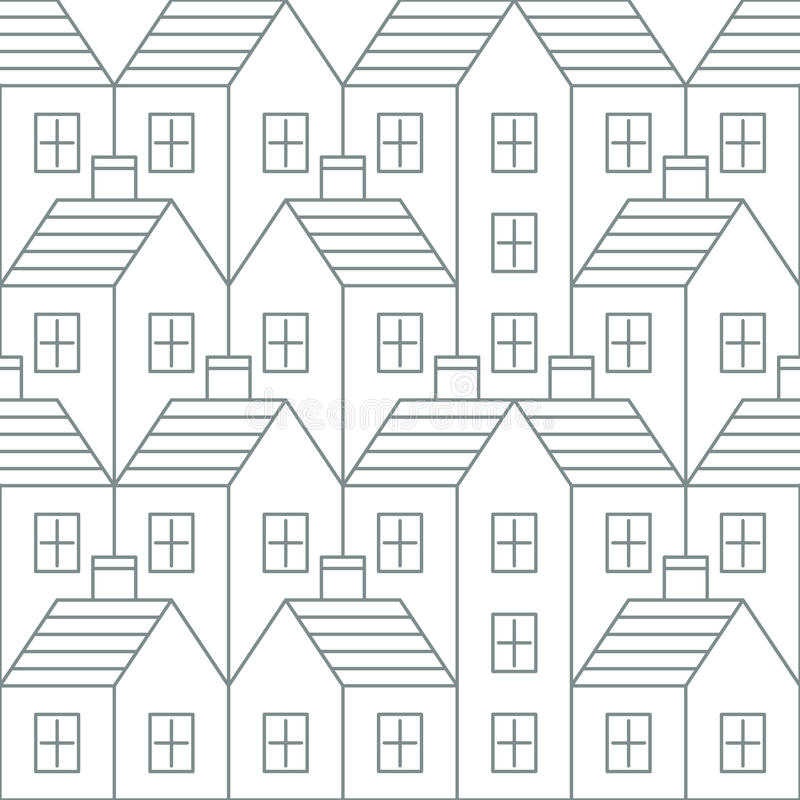 Realty pattern and backdrop stock illustration