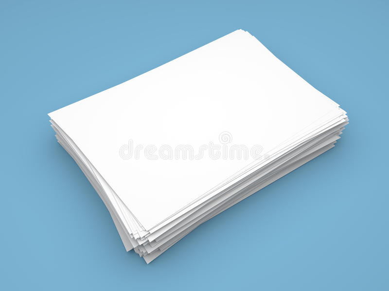 Ream of white paper sheets stock illustration