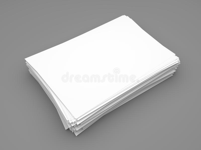 Ream of white paper sheets royalty free illustration