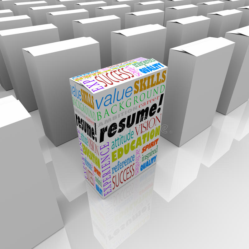Reanude al mejor un candidato único de muchas cajas que se destaca libre illustration
