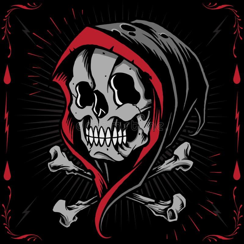 The Reaper and Bone Cross vector illustration
