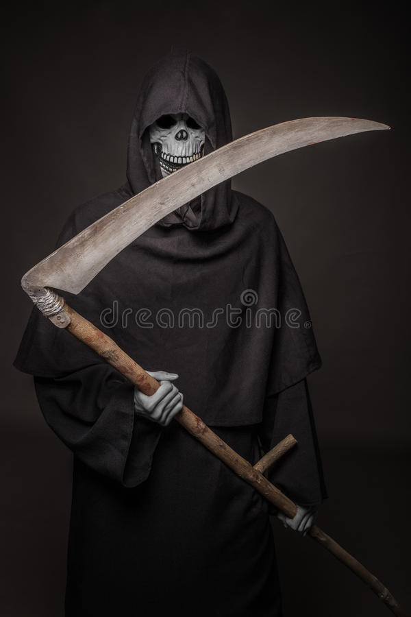 Reaper desagradável morte Halloween foto de stock