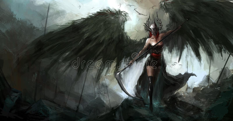 Reaper lady vector illustration