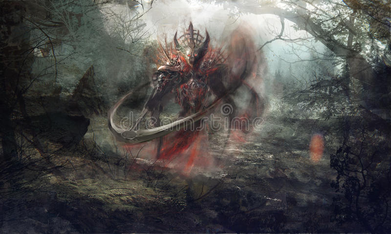 Reaper sinistre illustration libre de droits