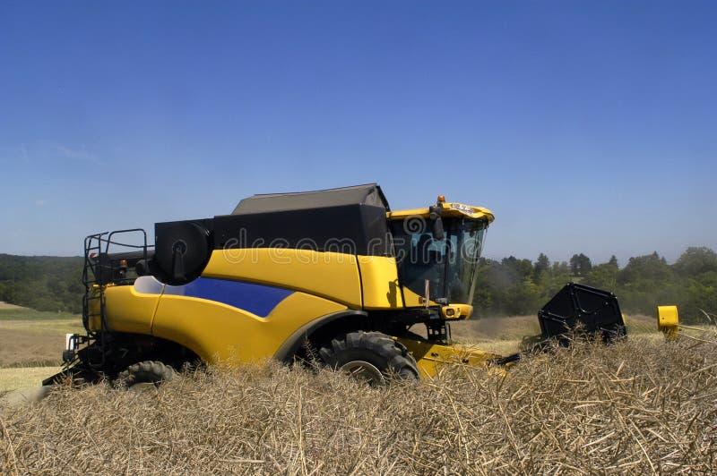 Download Reaping-machine Threshing-machine With Work Stock Image - Image of farm, nature: 24009627