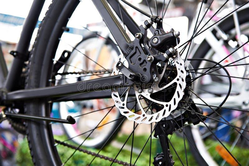Rear brake disk of mountain bike royalty free stock image