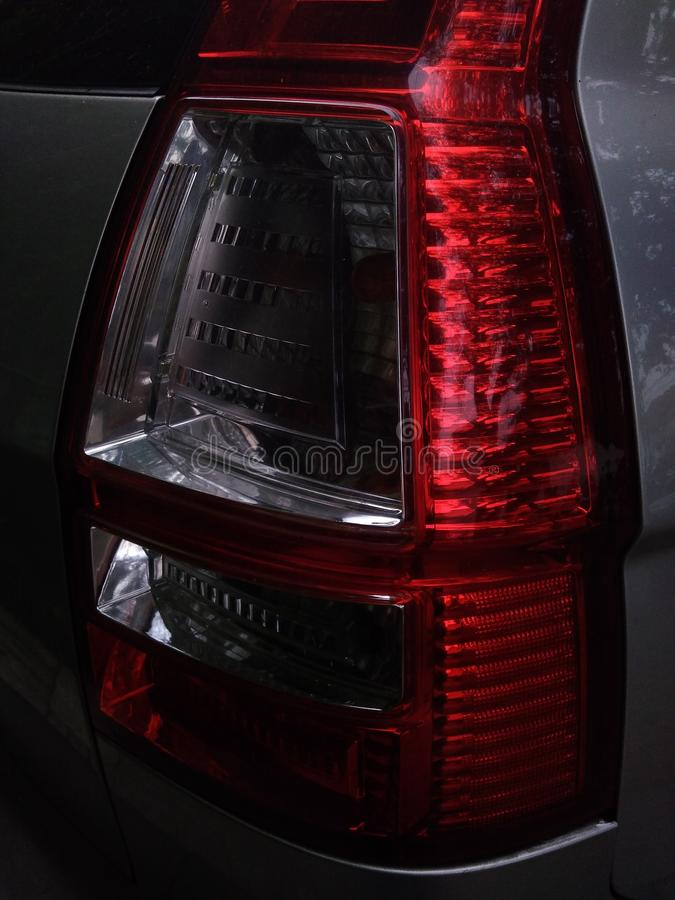 Rear Brake Lights City Car royalty free stock photo