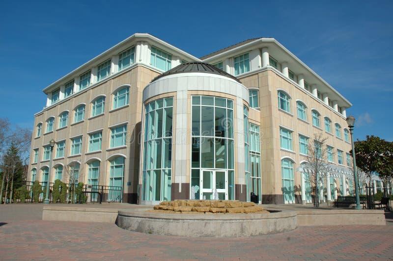 Rear of city hall. The new City Hall building in Hayward California stock photography