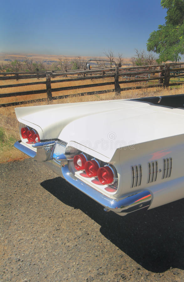 Rear-end 1960 Ford Thunderbird Convertible royalty free stock photo