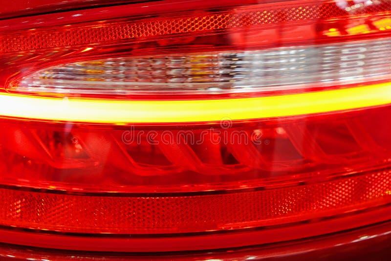 Rear illuminated headlights royalty free stock images