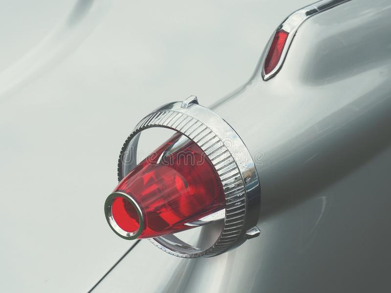 Rear lamp of an old vintage car stock photography