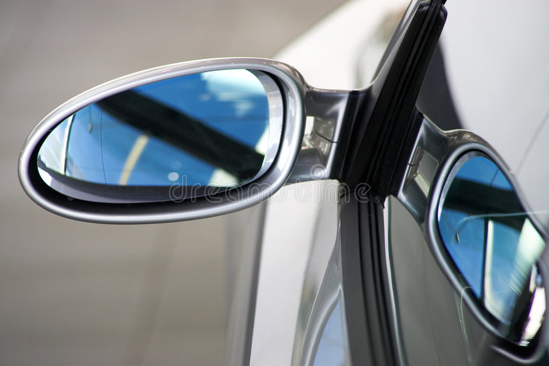 Rear mirror royalty free stock photos