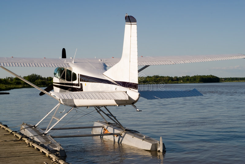 Rear of Seaplane stock images