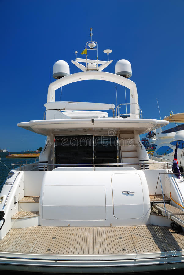 Free Rear Section Of A Yacht Stock Photography - 15528692
