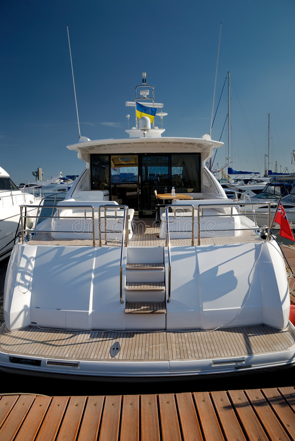 Free Rear Section Of A Yacht Stock Image - 7391631